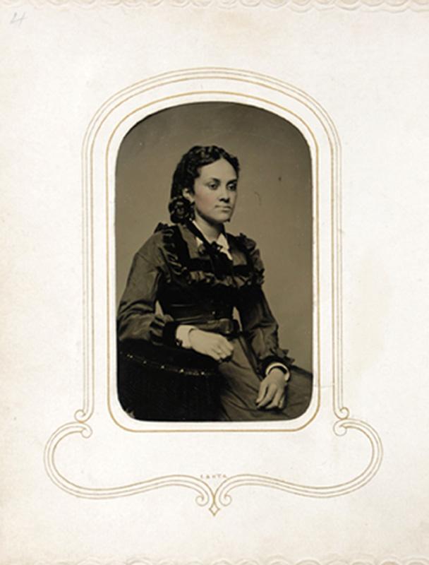 1.14. Woman seated. Tintype.
