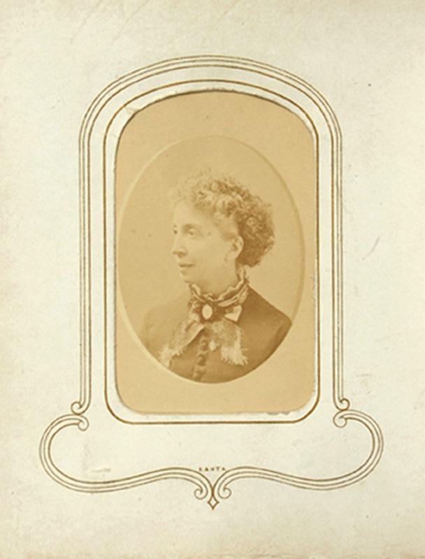 1.18. Woman with broach. Denison's, Albany, NY. CDV.