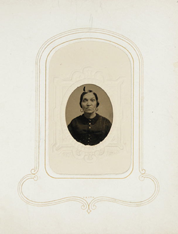 1.19. Woman with earrings. Woodworth's, Albany, NY. CDV.