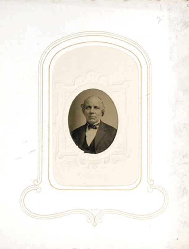 1.21. Man with bowtie. Woodworth's, Albany, NY. CDV.