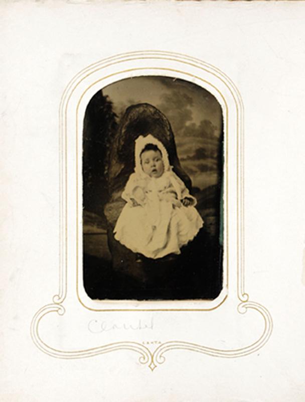 1.24. Claribel Miller. Tintype.