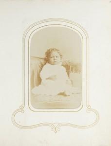 1.27. Infant in white dress. Anderson, Charleston, SC. CDV.