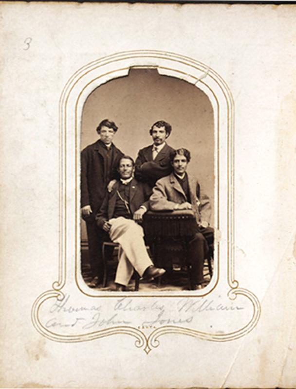 1.30. Thomas, Charles, William, and John Jones. Haines & Wicks, Albany, NY. CDV.
