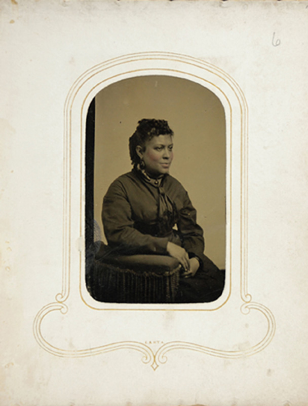 1.31. Woman seated. Tintype.