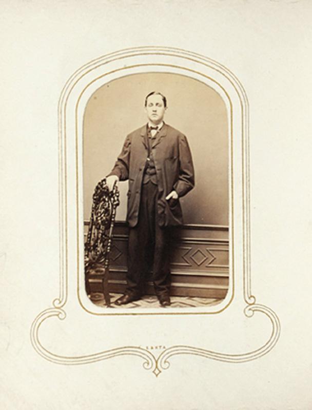 1.48. Man with open jacket. Jordan & Co., NYC. CDV.