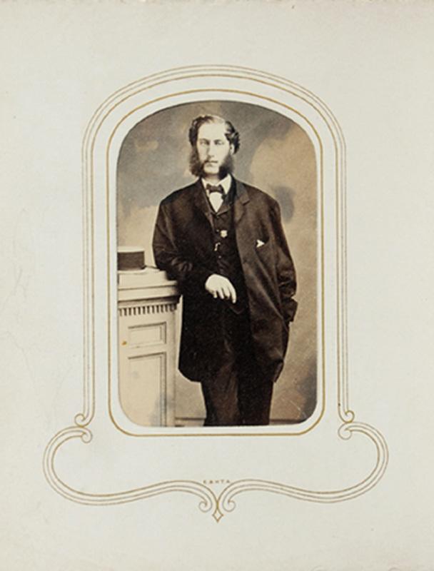 1.50. Man with sideburns. S.J. Thompson, Albany, NY. CDV.