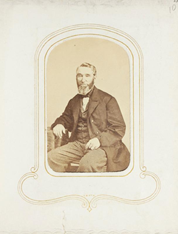 1.55. Man with beard. Thomas Heney, NYC. CDV.