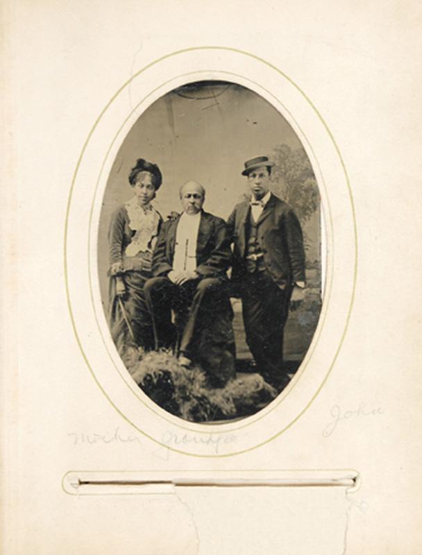 2.09. Arabella Chapman, John R. Chapman, John T. Chapman. Tintype.