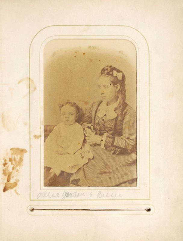 2.11. Allie Jordan & Bessie. Denison's, Albany, NY. CDV.