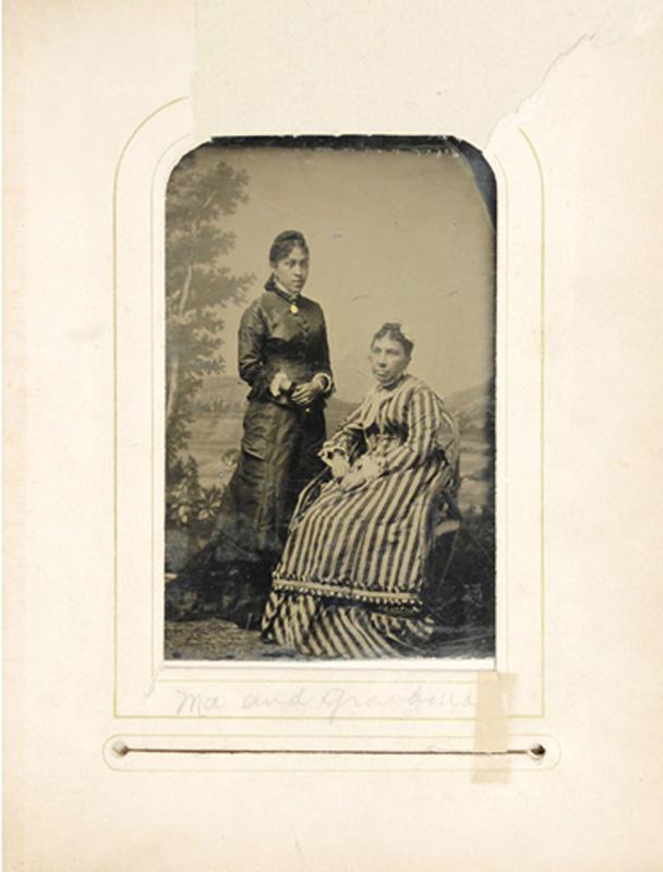 2.15. Arabella Chapman & Harriet Chapman. Tintype.