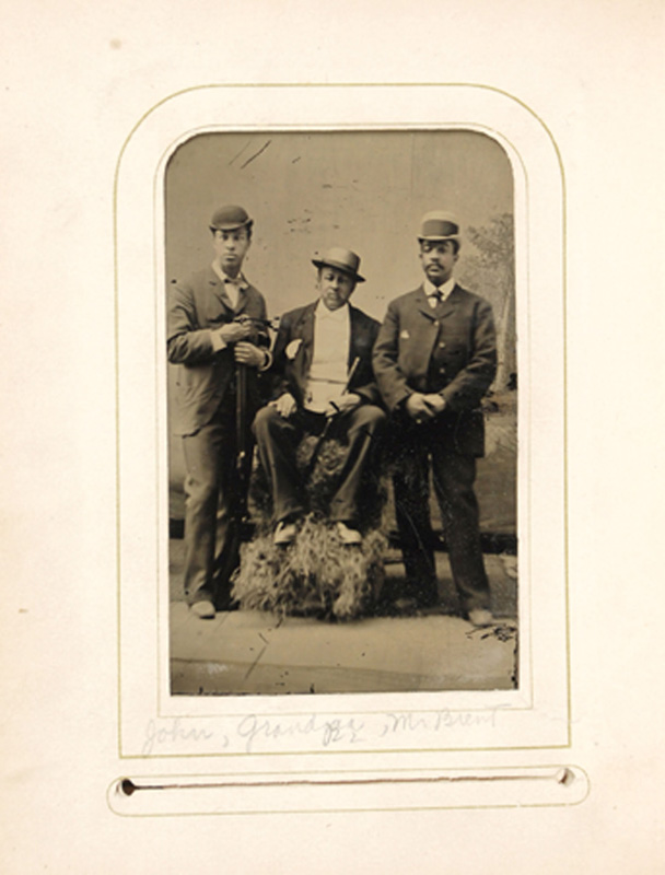 2.26. John Chapman, Jr., John Chapman, Sr., & William Brent. Tintype.